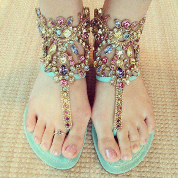 Cute Shoes With Gemstone