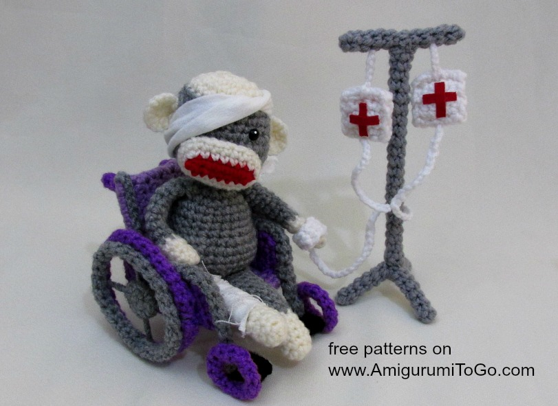 Amigurumi To Go Monkey : Crochet IV Drip Pole ~ Amigurumi To Go
