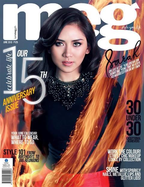 copy of Meg magazine's June 2013 anniversary issue with Sarah Geronimo