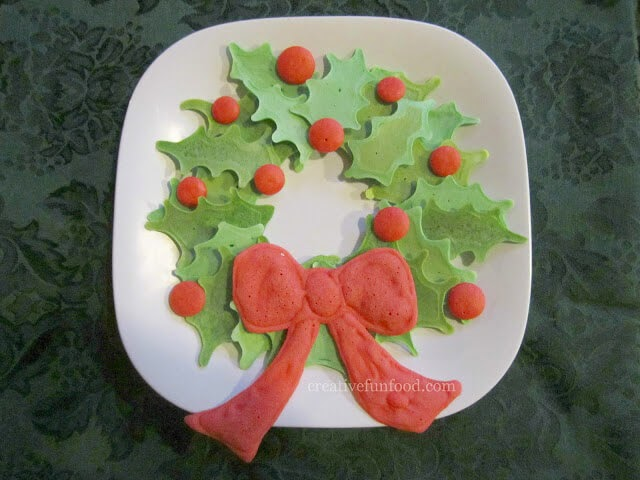 Christmas Wreath Pancake Platter, Creative Food