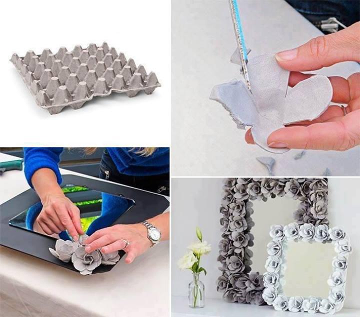 Decora marcos usando cartones de huevos ~ Arte & Reciclaje