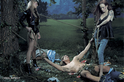 steven klein dsquared2 2004 bondage picnic