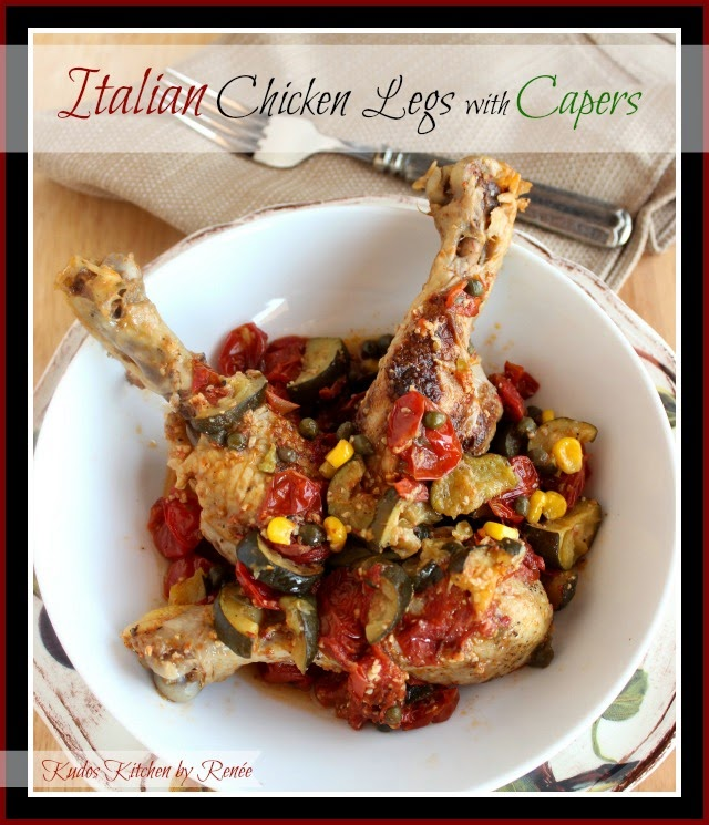 Italian Chicken Legs with Capers Recipe via kudoskitchenbyrenee.com