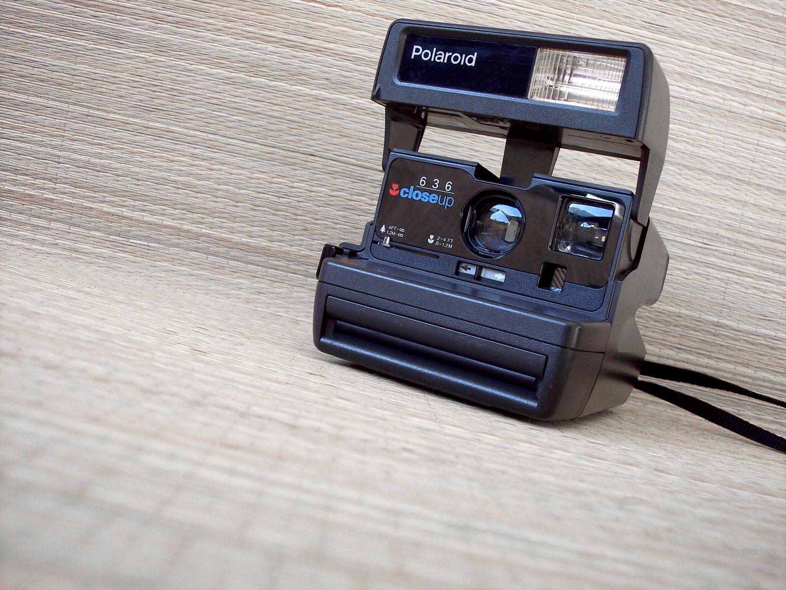 polaroid 636 autofocus macchina fotografica vintage made in u k. Black Bedroom Furniture Sets. Home Design Ideas