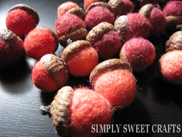 Simply sweet crafts how to make felted acorn ornaments for How to make acorn ornaments