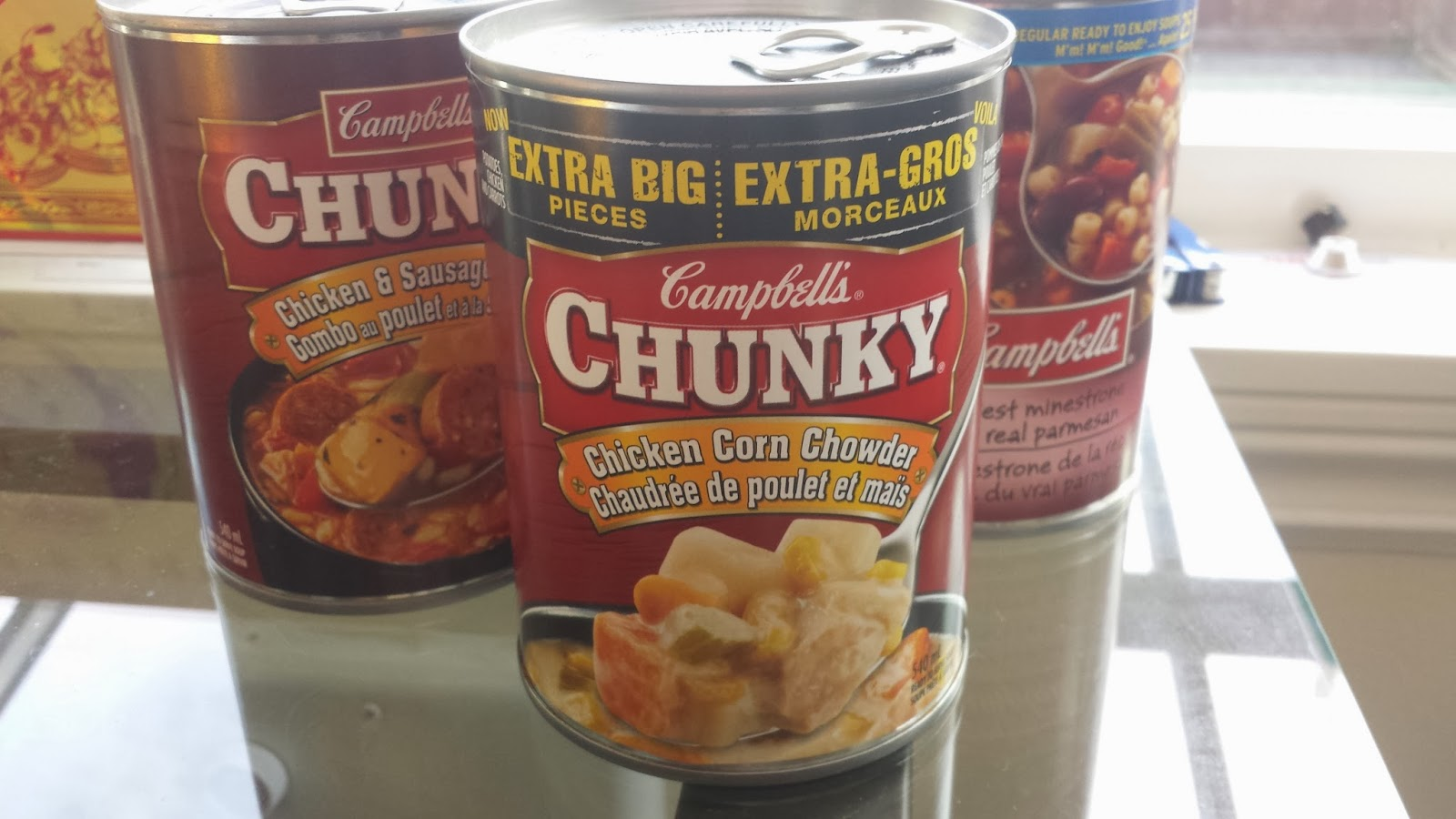 Campbell Chunky soup cans