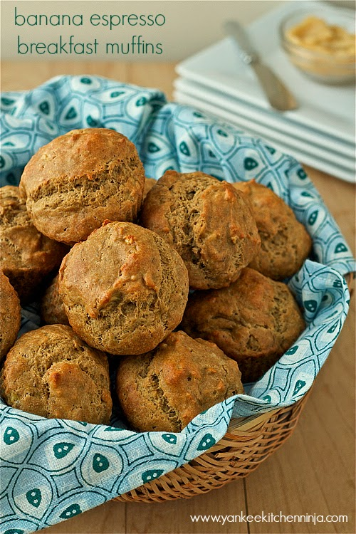 banana espresso breakfast muffins