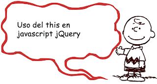 Uso del this en javascript jQuery
