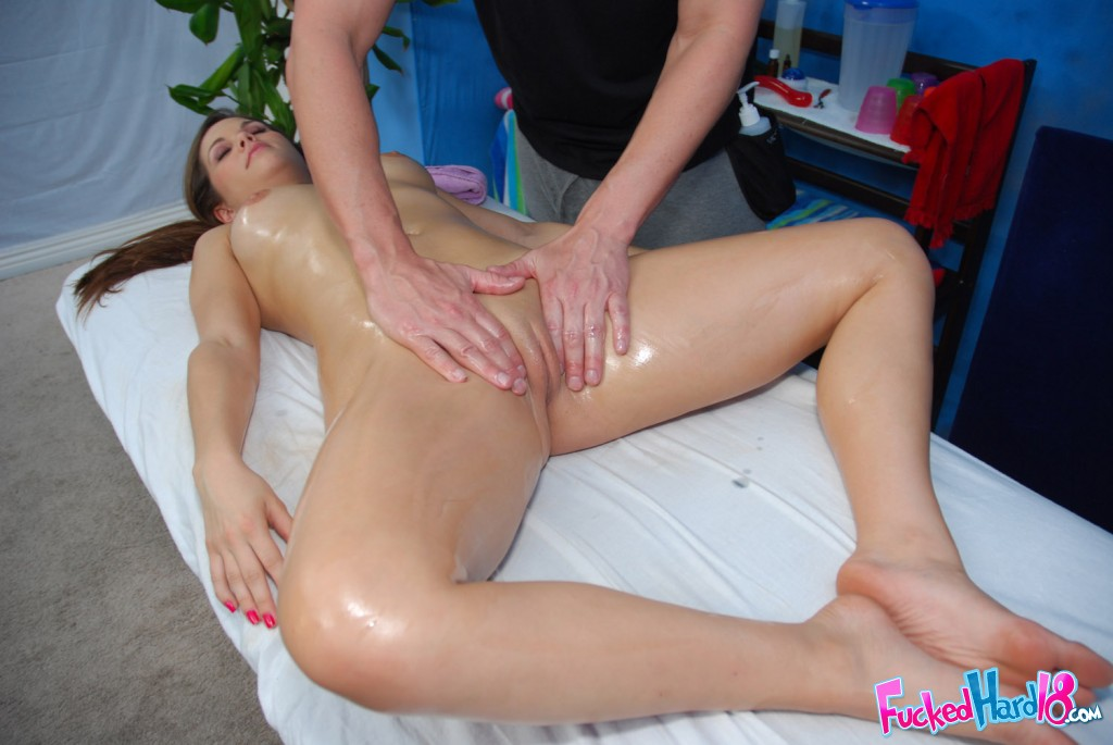 Massage naked wife