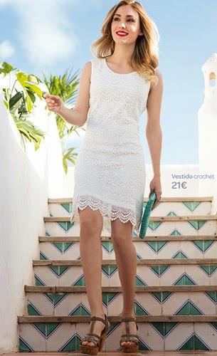 Carrefour Tex primavera verano 2015 vestido crochet by Aida Artines