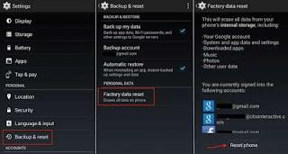 Mereset Aplikasi Android