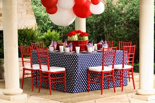 Table decor for July