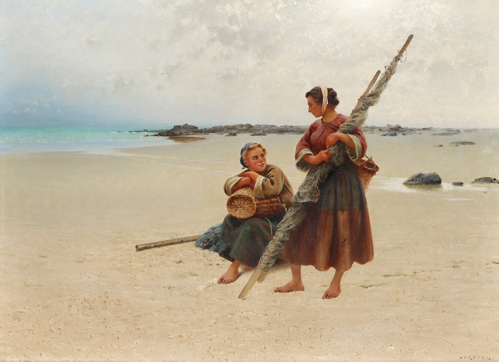 August Hagborg Oyster picking  rittany