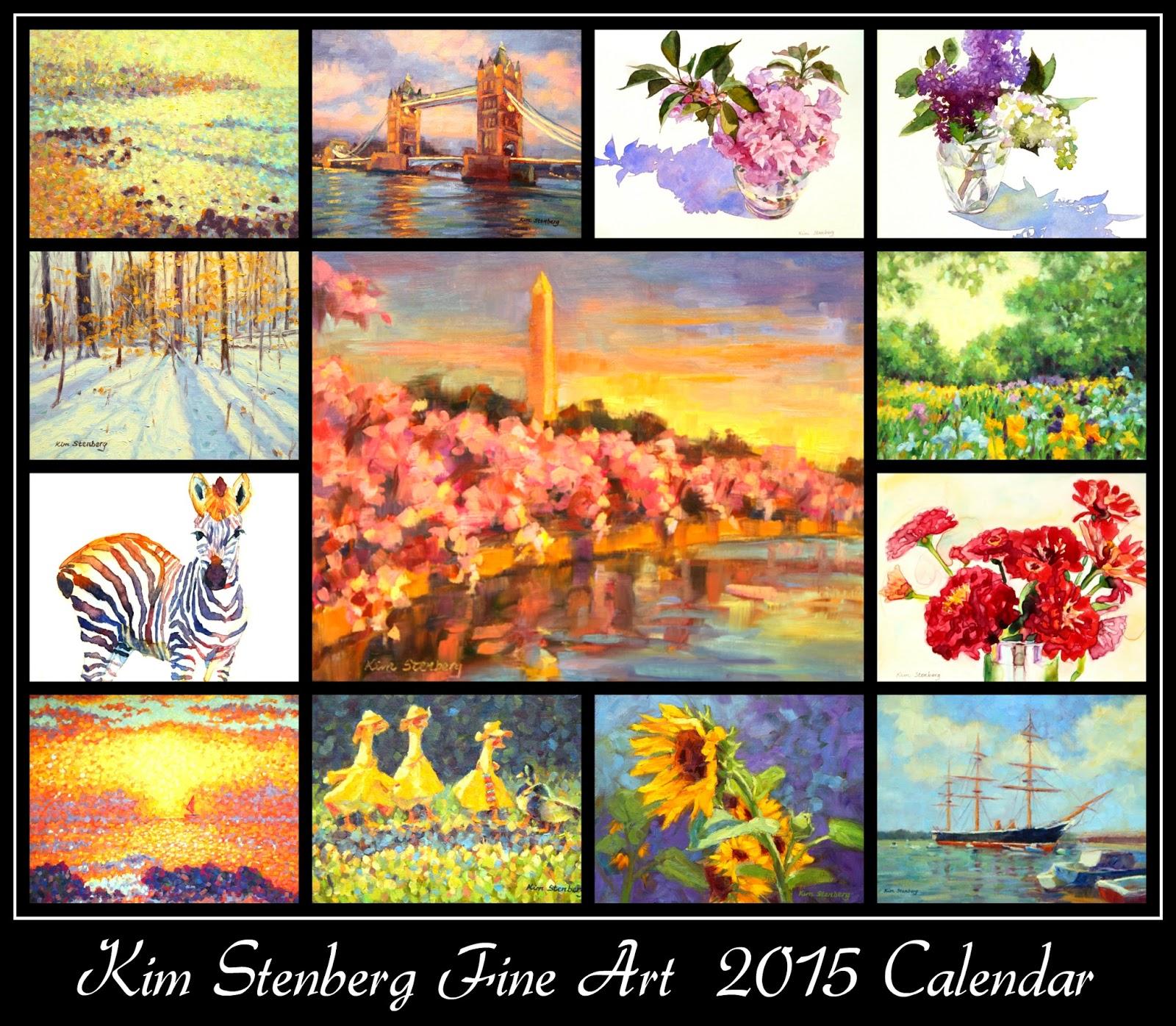 Calendar Fine Art : Kim stenberg s painting journal fine art