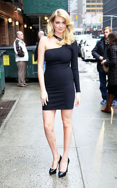 Kate Upton Arriving Late Show with David Letterman in New York