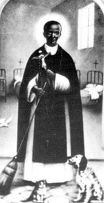 Pintura anónima de San Martin de Porres.