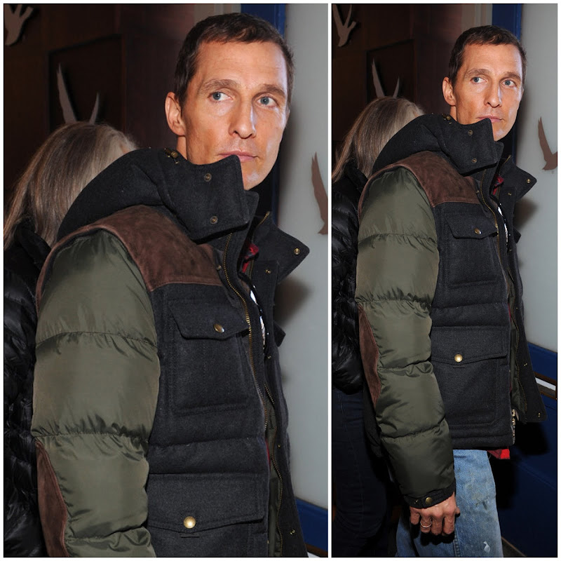 00O00 Menswear Blog Matthew McConaughey in Coach CLARKSON DOWN JACKET - Sundance Film Festival 2013 Park City Utah