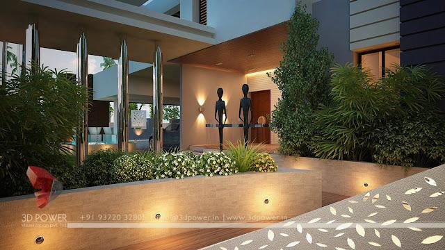 contemporary garden view