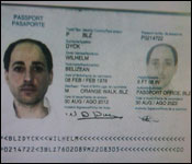 Rafic Labboun's forged Belize passport