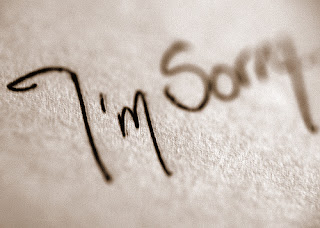 "sorry Saying ""Im sorry"" is just the beginning of our commitment to behave......"