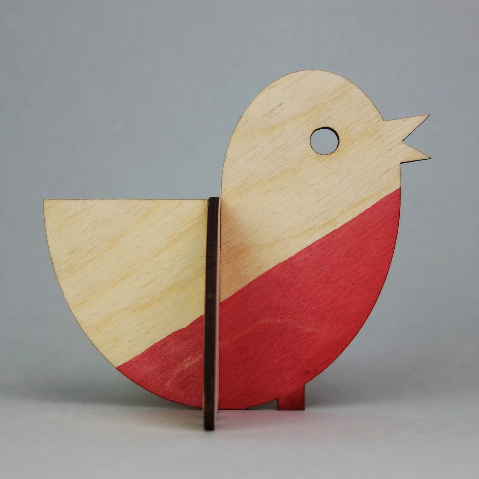 Plywood Christmas robin maquette 2014, side
