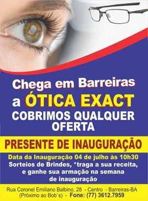 CHEGA EM BARREIRAS A ÓTICA EXACT