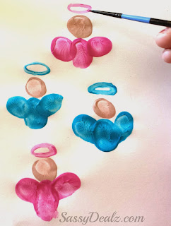fingerprint angel craft for kids