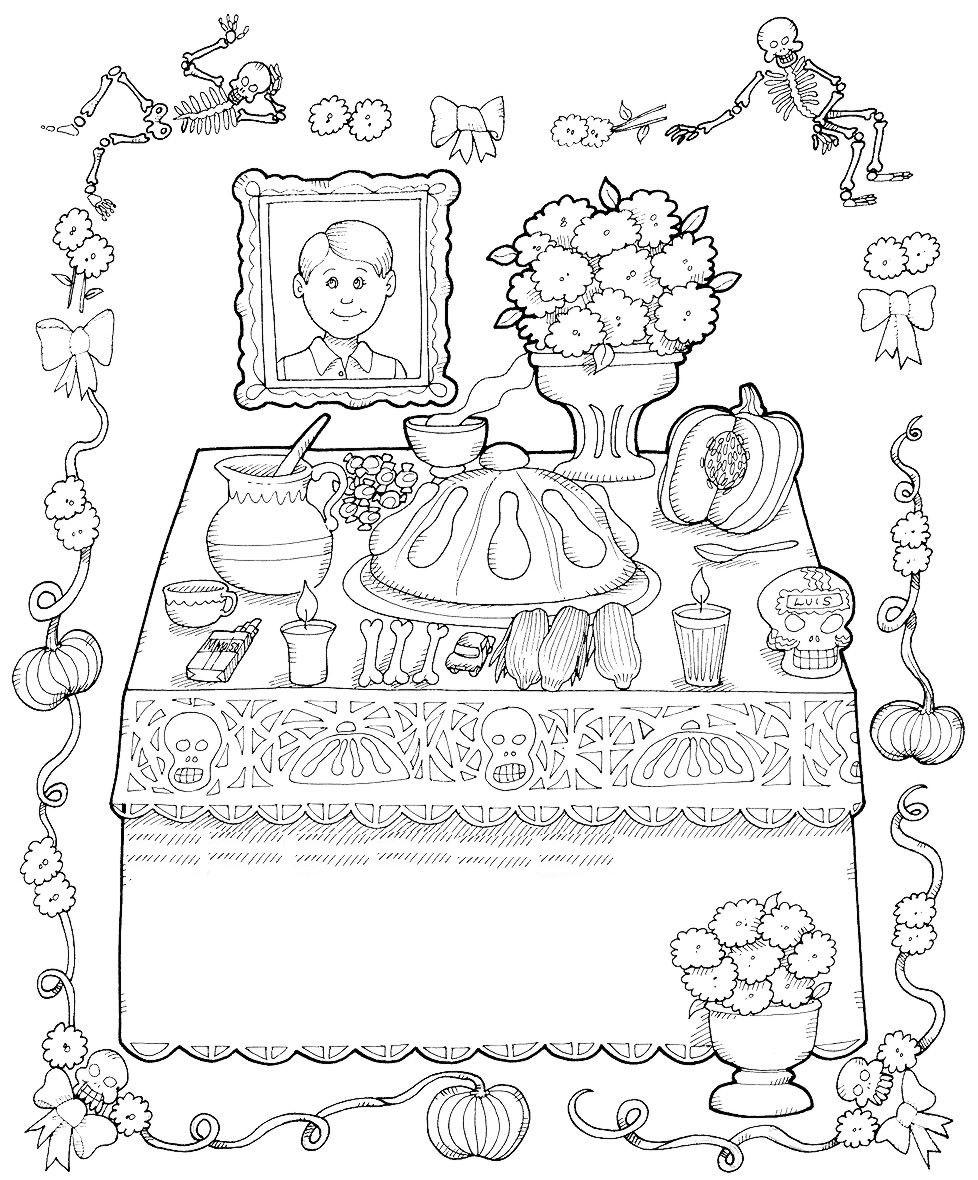 Dibujos Para Colorear  Dia De Muertos