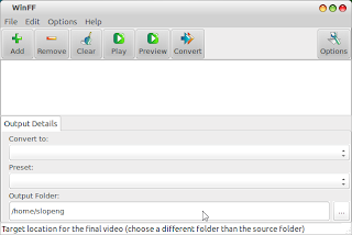 Install winFF Pemotong Lagu di Ubuntu/LinuxMint