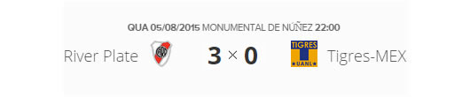Copa Libertadores da América 2015 River-Plate-ARG 3x0 Tigres-MEX