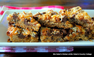 Caramel Chocolate Pecan Bars  from Miz Helen's Country Cottage