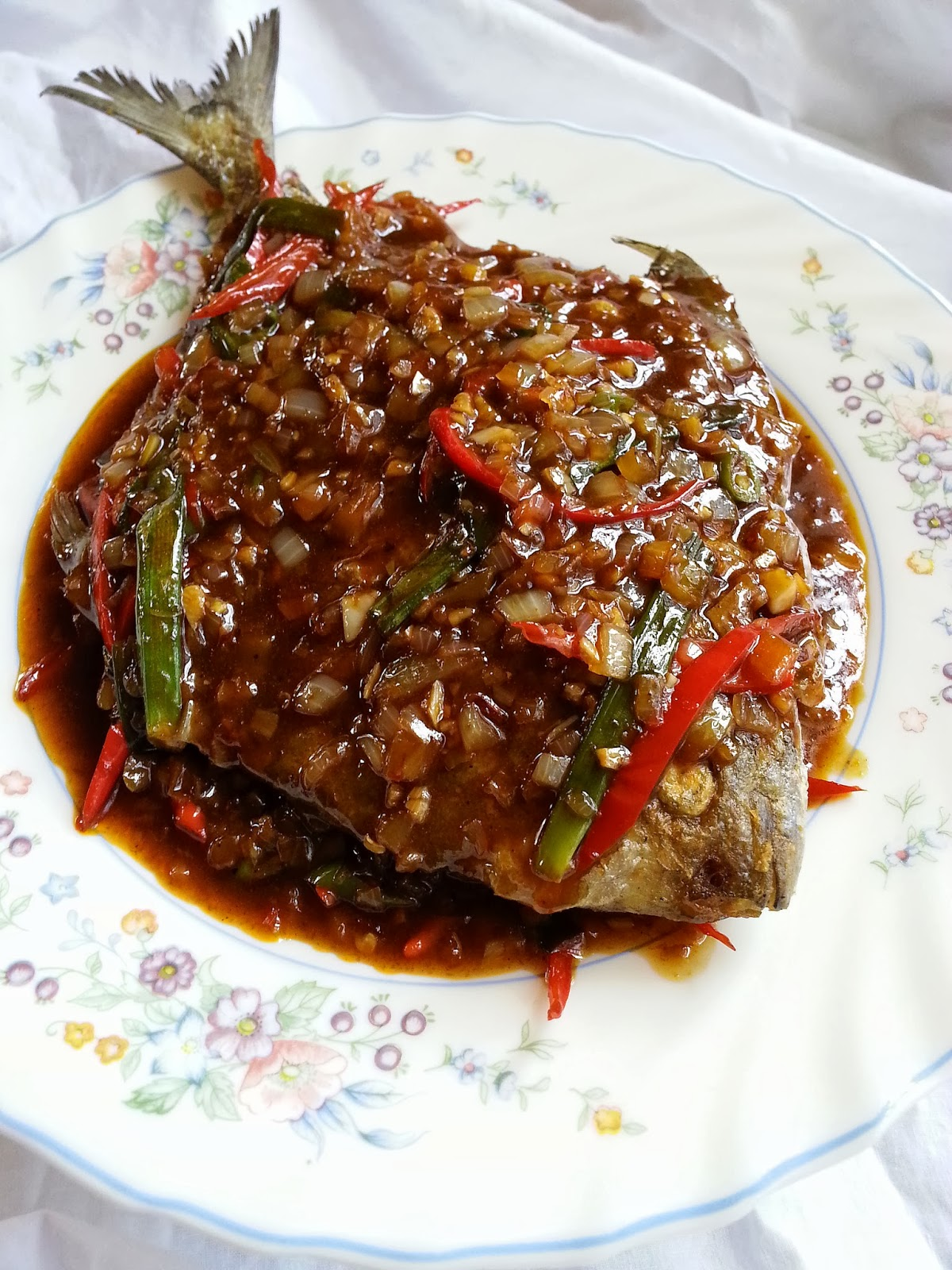 Ikan Bawal 3 Rasa Recipes Ikan Bawal 3 Rasa Recipe