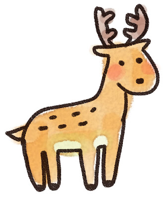 鹿のイラスト(動物)