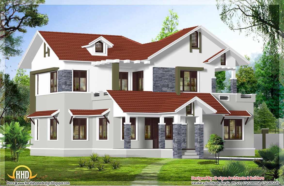 Superb 4 bedroom kerala home design 2200 sq ft kerala for Four bedroom kerala house plans