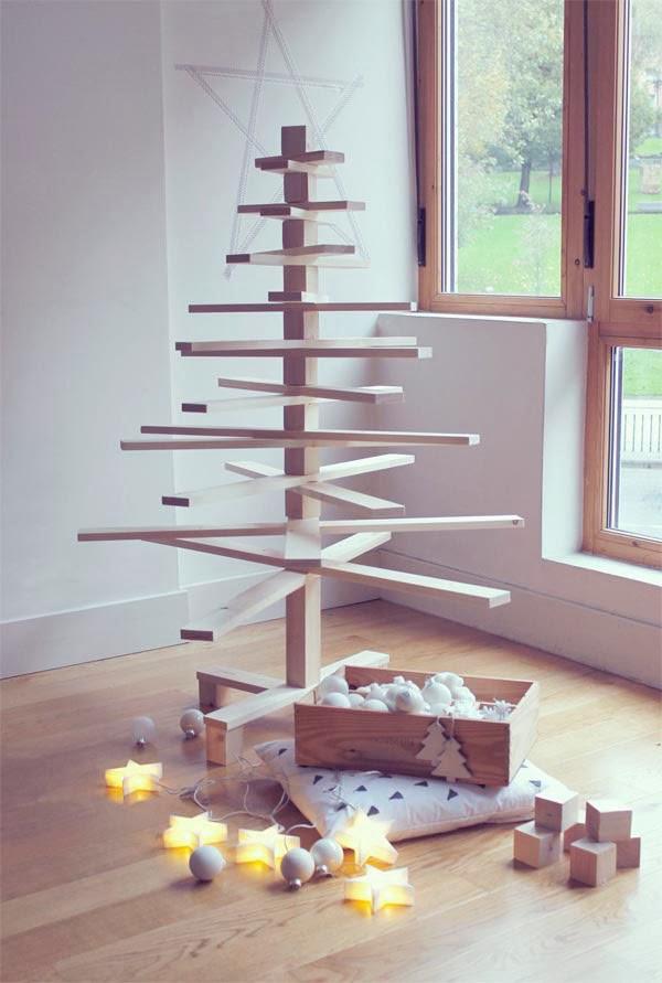 Rboles de navidad de listones y ramas salvaged wood - Arbol de navidad leroy merlin ...