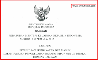 PMK No 167 Tahun 2015