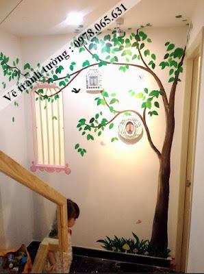 tranh tường quán cafe