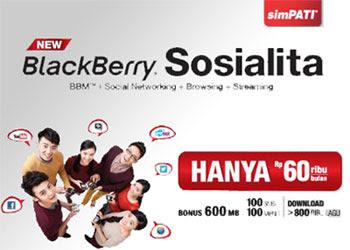 Banner Paket New BlackBerry Sosialita simPATI