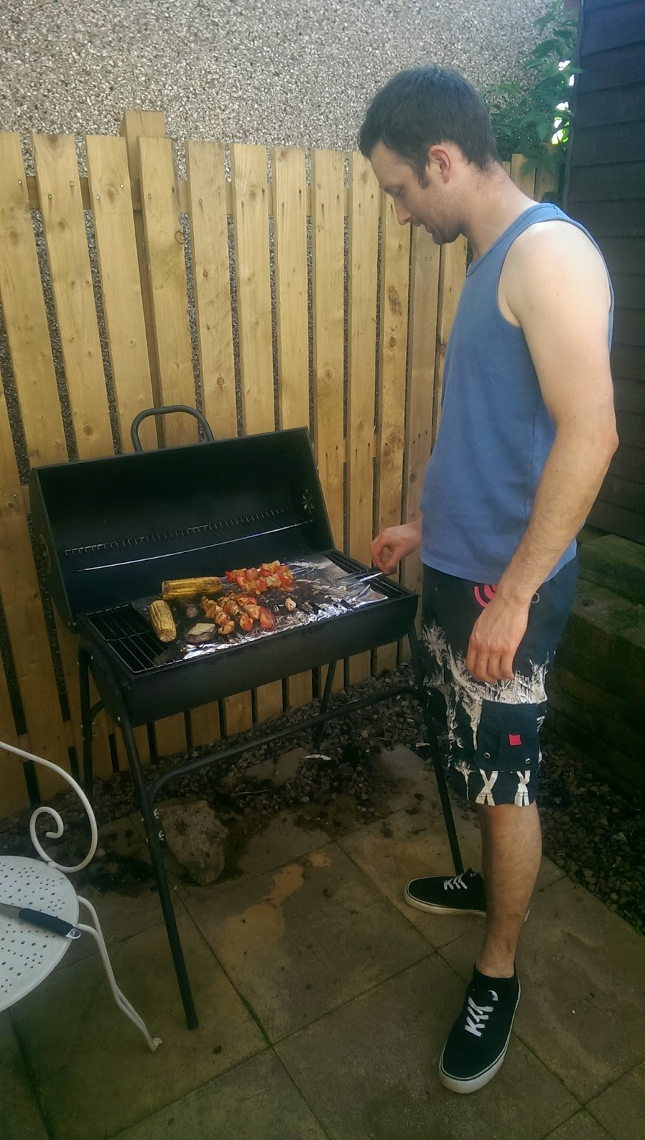 Martin getting his grill on