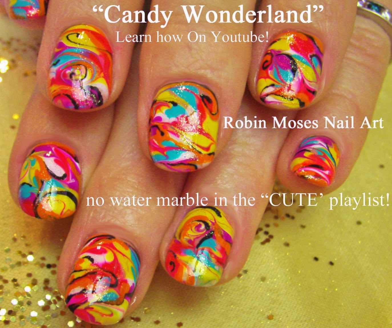 Robin moses nail art summer nails summer designs nail art summer nails summer designs nail art nails neon nails neon bright nails no water marbling marbling nails marble nails diy how to robin prinsesfo Image collections