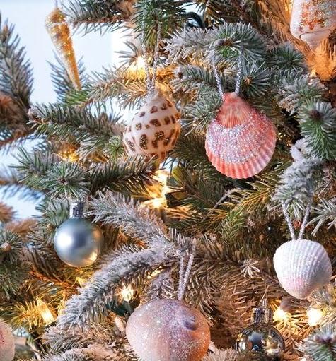 simple DIY shell ornaments