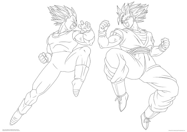 Dragon Ball Z Coloring Pages Of Vegeta