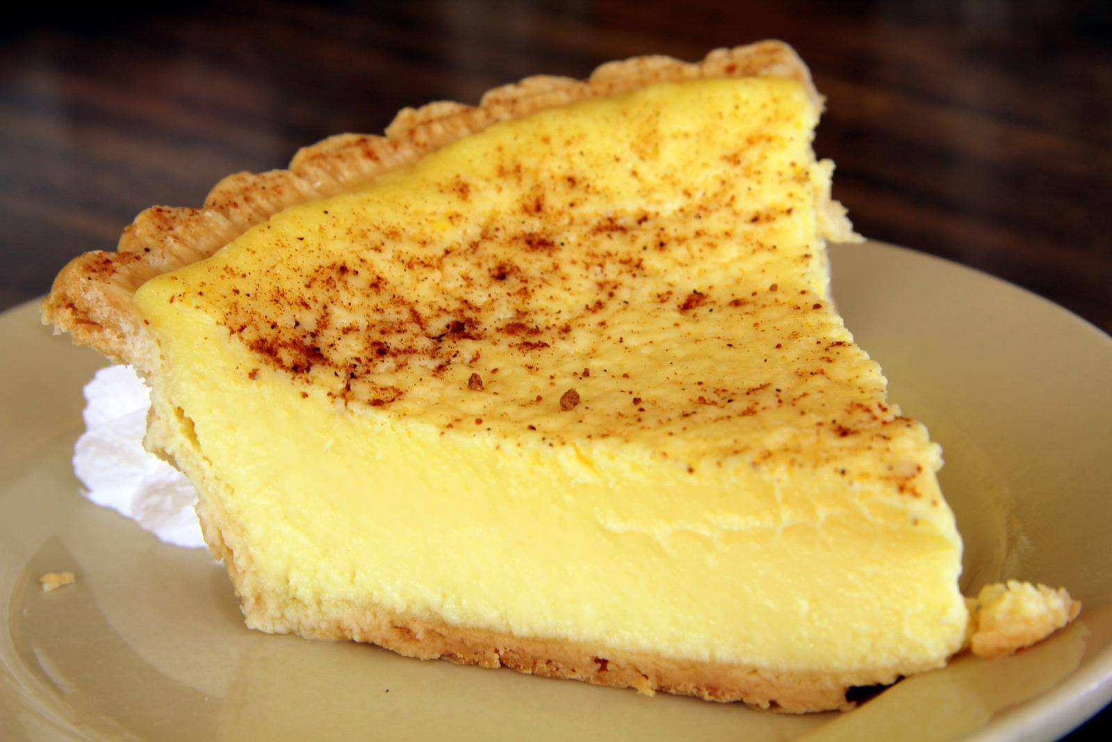 Gina's Favorites: Old Fashioned Custard Pie