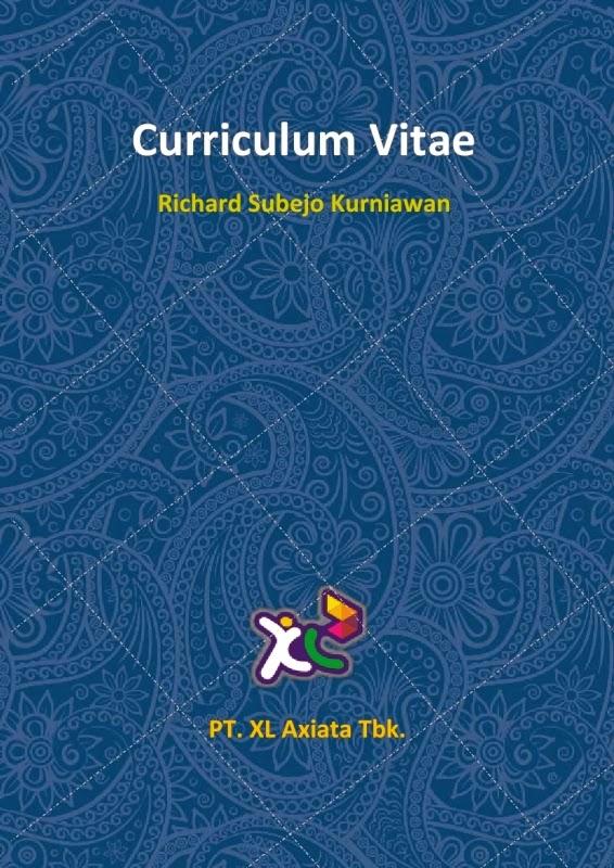desain cv kreatif  contoh curriculum vitae xl axiata