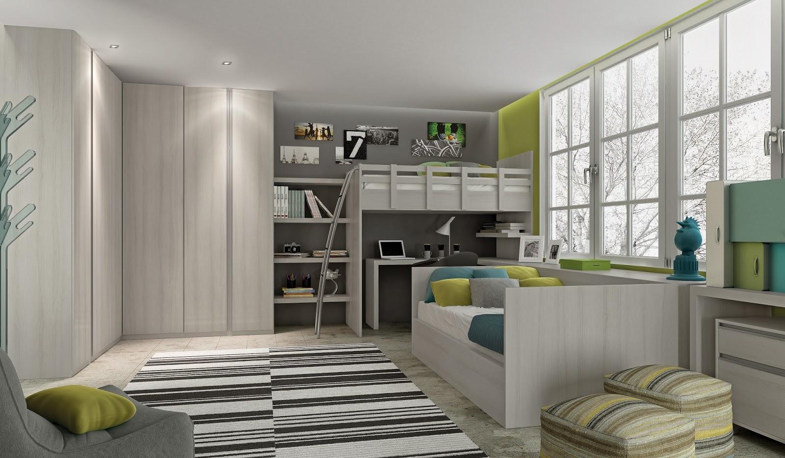 modelo de quarto planejado para um jovem adolescente