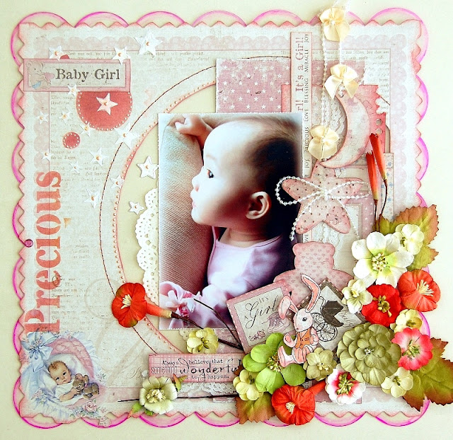 Precious Baby Girl Layout by Irene Tan