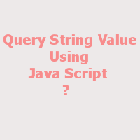 Query String Value using Java Script