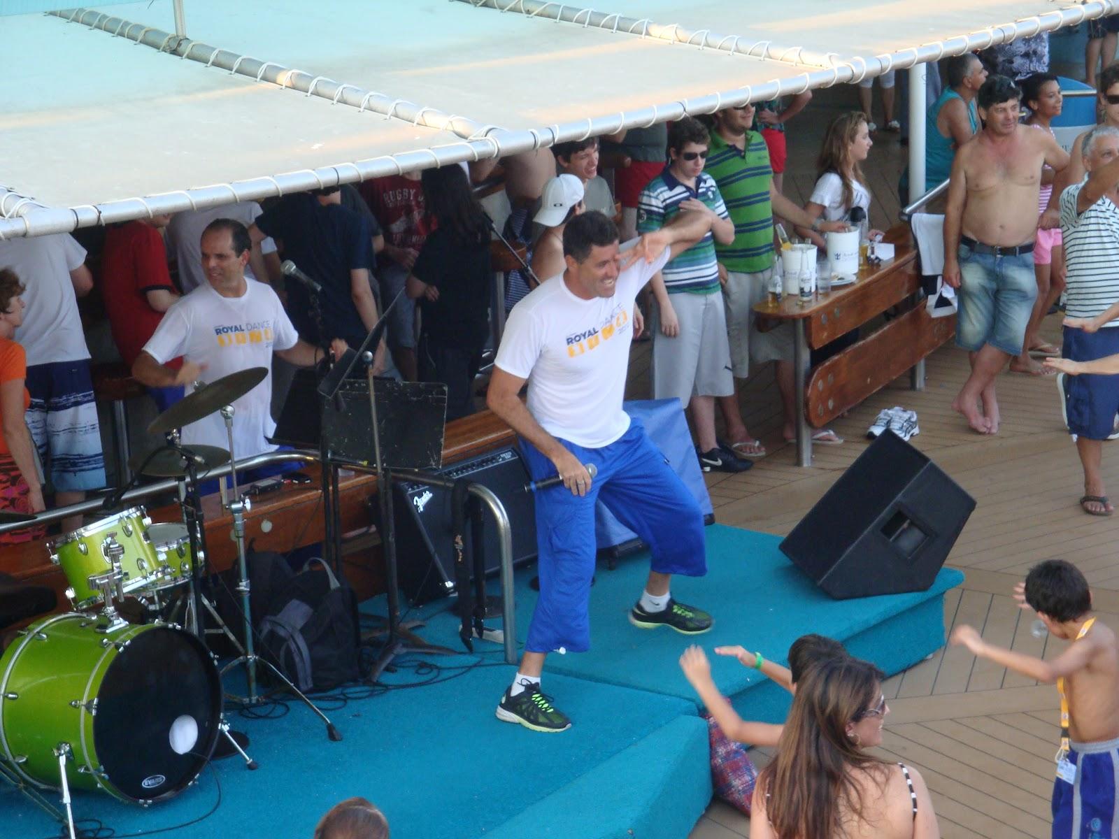 Navio Vision Dado Dance no Navio Vision of