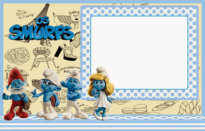 The Smurfs Free Printable Invitations Or Photo Frames Is It