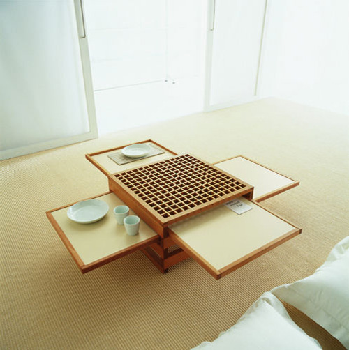 World of architecture and design coffee and dining table for Innovative dining table designs